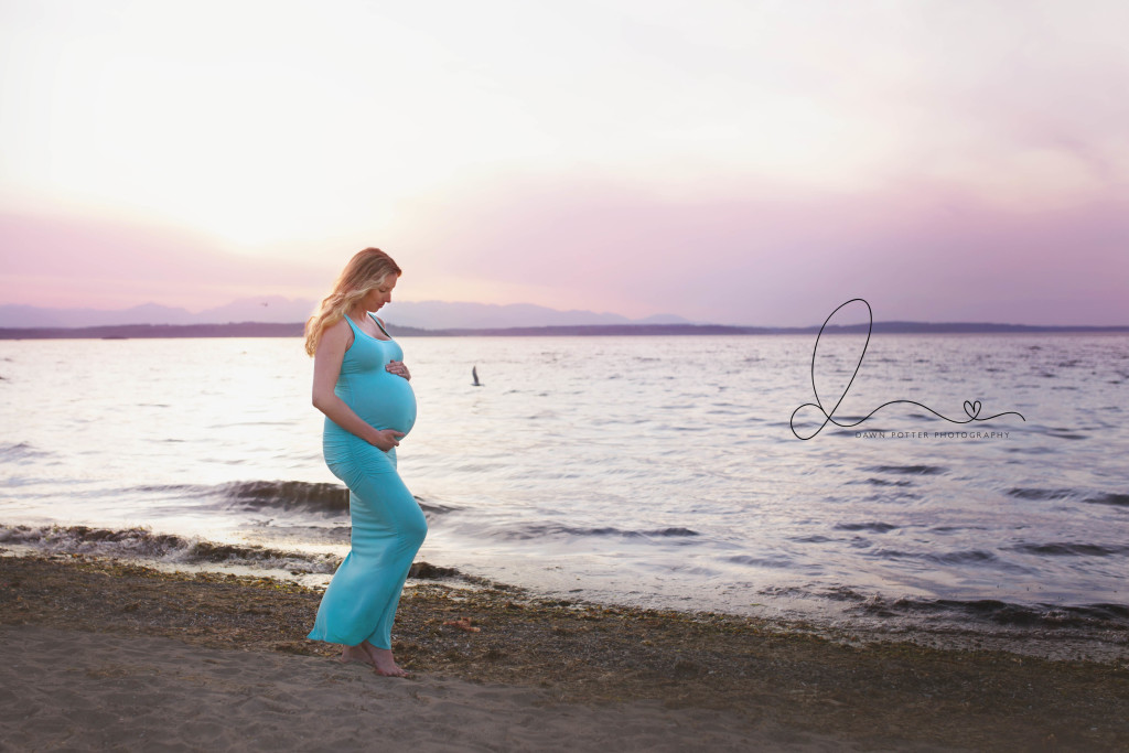 sunset beach maternity session | seattle newborn baby maternity photographer