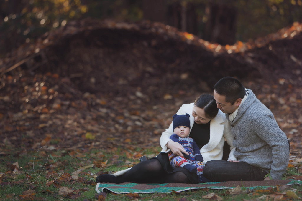 winter family session | family of three | issaquah family photographer
