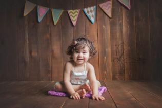 one year milestone session   seattle baby photographer