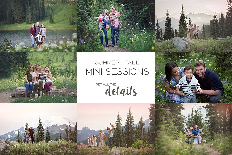 Seattle Summer and Fall Family Mini Portrait Sessions 2018